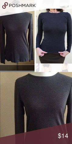 NEW! Charcoal gray LONG SLEEVE TEE SHIRT Sz S top NEW! Charcoal gray LONG SLEEVE TEE SHIRT top - Sz S. Perfect for this fall and winter. Great for layering or by itself. (J1) Tops Tees - Long Sleeve