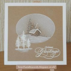 Hi there, Just a really quick post today with few more of the Christmas cards that I've made using Kraft card. I really love the effect of...