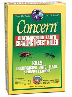 Diatomaceous Earth - made from the finely ground fossils of prehistoric diatoms. Kills common household and garden pests like bed bugs, roaches, ants, fleas, beetles.