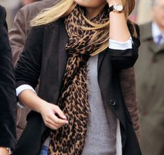I'm on the hunt for a leopard scarf. They are a lot more versatile than you would think!