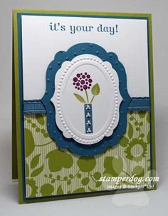 Embossed Framelits Card Video - Stampin' Up! Demonstrator Ann M. Clemmer & Stamper Dog Card Ideas
