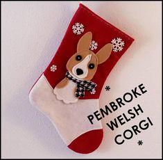 34c8c542e181e Pembroke Welsh Corgi Dog Personalized Christmas Stocking by Allenbrite  Studio