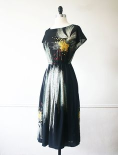 Japanese Vintage Dress Dandelion by StandardVintage