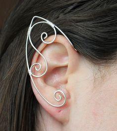 Simple Silver Elf ear cuffs Free Shipping by SoulElementsJewelry