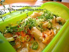 たっきーママ@**happy kitchen** Happy Kitchen, Thai Red Curry, Seafood, Meat, Chicken, Ethnic Recipes, Sea Food, Cubs, Seafood Dishes