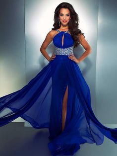 Sexy Chiffon Beaded Prom Dresses Floor Length Wedding Party Dress Prom Gown