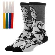 05e3fad96cb5f Captain America Marvel Comics Black & White Men's Socks COLOR YOURSELF  Avengers #Bioworld Awesome
