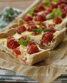 Crostata con pomodorini e ricotta | Cucina veloce e sana