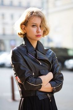 Leather and red lips, I am so there