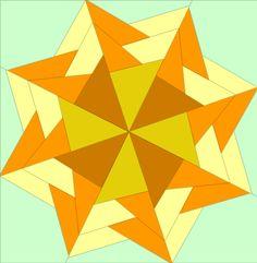Braided Star Beautiful Paper Pieced Star (Beginners) quiltartdesigns.blogspot.com