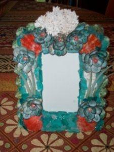 Accent Pieces | Savannah Shell Art Seashell Frame, Shell Art, Accent Pieces, 4th Of July Wreath, Sea Shells, Picture Frames, Wreaths, Savannah, Mirror
