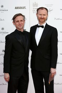 Mark Gatiss and Ian Hallard, at The Old Vic Theatre Gala Celebration in Honour of Kevin Spacey — 19 April, 2015  Fuck Yeah Mark Gatiss