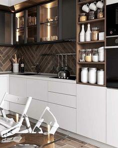 modern luxury kitchen design ideas that will inspire you 5 Kitchen Room Design, Kitchen Sets, Modern Kitchen Design, Home Decor Kitchen, Interior Design Kitchen, Kitchen Furniture, New Kitchen, Home Kitchens, Küchen Design