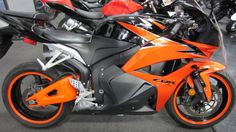 2010 HONDA CBR 600rr, minus the orange strip on the tires, this is my bike :)  Mine also has custom orange and black leather seat