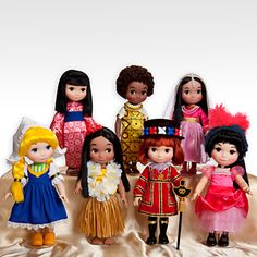 """Globetrotting Mommy - Disney's """"It's a Small World Collection.  Dolls, great gifts, Disney, girls, kids, nursery decor."""