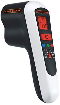 The Black & Decker thermal leak detector helps you increase the efficiency of your home's insulation by finding leaky areas that can lead to higher heating and cooling bills. Home Insulation, Gadgets, Infrared Thermometer, Digital Thermometer, Power Hand Tools, Thing 1, Isolation, Home Safety, Heating And Cooling