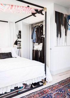 tiny closet and bedroom inspo