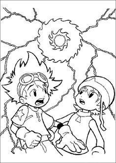 Digimon Tegninger til Farvelægning. Printbare Farvelægning for børn. Tegninger til udskriv og farve nº 9