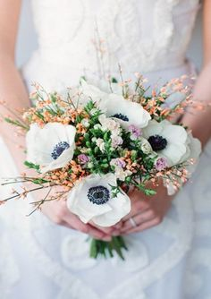 Anemones bouquet,wedding bouquet