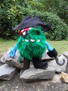 fluffy jack... pirate plush for our new childrens book.