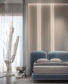 Modern Luxury Bedroom, Modern Bedroom Decor, Luxurious Bedrooms, Bedroom Bed Design, Home Bedroom, Baby Room Design, Dark Walls Living Room, Living Room Interior, Office Interior Design