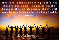 People are confused with exactly what Love is.  Love Is Pure Positive Thoughts.  When one's thoughts are...  https://www.facebook.com/ramsey.delia/posts/1580653435325371:0