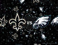Eagles Saints Game, Saints Vs, Saints Football, Best Football Team, Who Dat, New Orleans Saints, Seahawks, Eagles, Blessed