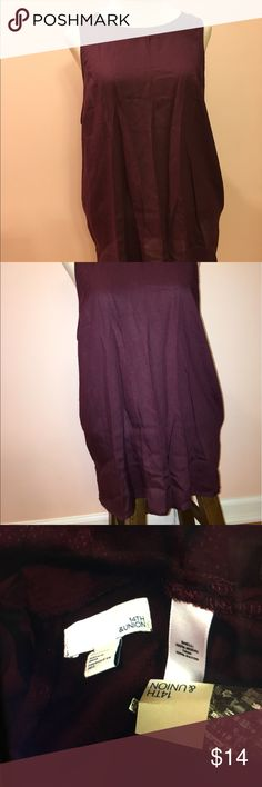 NWT  s 14th&union Sleeveless top burgundy size L NWT s 14th&union Sleeveless top burgundy size L 14 th& union Tops Blouses