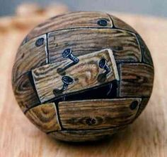 Wood - Painted on stone