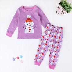 77e6a1a7637c3 Cute Girl Christmas Santa Claus Pyjama Set