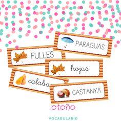 Vocabulario del otoño - La tiza de Carol Baby Play, Summer Crafts, Classroom Decor, Valencia, Decorative Boxes, Seasons, Autumn, Activities, Blog