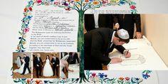 Jewish Wedding Tree Of Life Ketubah via @mazelmoments.com #JewishWeddings