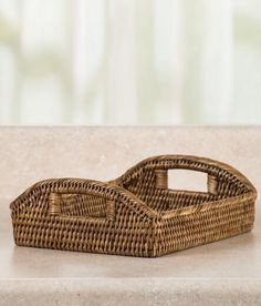 Rattan Tea For Two Tray  - Artisans handcraft these heirloom-quality trays by tightly weaving durable vine. Use it to serve tea or enjoy breakfast in bed.