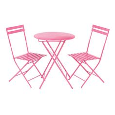 Parisian Pink Metal Bistro Set $130