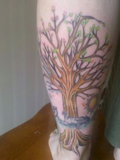 My four seasons tree tattoo