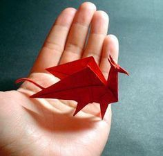 Dragon Origami make a whole Dragon Army Fun and easy   here are a number of tutorials to get you started     Tutorial for folding instructions  http://www.origami-instructions.com/origami-dragon.html    How to make origami dragon  You can learn to make various kinds of origami dragon here.  http://www.origami-make.com/howto-origami-dragon.php