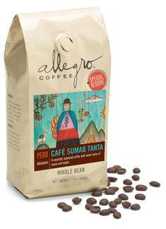 Allegro Special Reserve Coffee Packaging by Amanda Villalobos, via Behance Beverage Packaging, Coffee Packaging, Coffee Branding, Bag Packaging, Packaging Design, Coffee Logo, Coffee Type, Design Food, Design Design