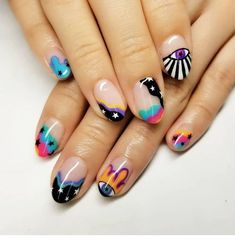 hansen chrome nail makeup brush nail designs airbrush makeup nail makeup ten nail & makeup studio klang nail makeup inc nail makeup and makeup salon design nail art nailart Shellac Nail Colors, Gelish Nails, Color Nails, Nails Yellow, Pink Nails, Bright Nails, Cute Nails, Pretty Nails, Cute Nail Art