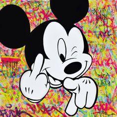 Bardou Bardou Fuck you Peinture Mickey Mouse Drawings, Mickey Mouse Pictures, Mickey Mouse Art, Mickey Mouse And Friends, Disney Drawings, Cute Drawings, Mickey Tattoo, Mickey Mouse Wallpaper Iphone, Cute Disney Wallpaper