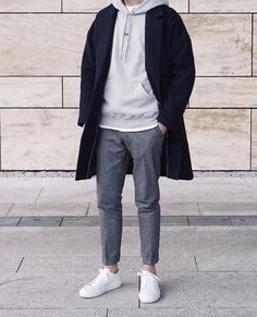Mens Minimalist Fashion - My Minimalist Living Winter Outfits Men, Stylish Mens Outfits, Korean Fashion Men, Mens Fashion, Korean Men Style, Mode Man, Look Street Style, Mode Streetwear, Mode Outfits