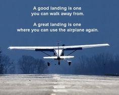 Wednesday Wisdom #aviationhumor #wednesdaywisdom #goodlanding #greatlanding