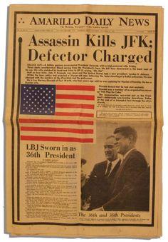 kennedy assassination newspaper headlines | Lot Detail - JFK Assassination… Day Of Infamy, Kennedy Assassination, Newspaper Headlines, John Fitzgerald, 23 November, Newspaper Article, John Kennedy, People Of Interest, Sad Day