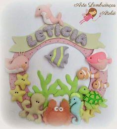Felt wreath baby name: Felt Crafts, Diy And Crafts, Felt Name Banner, Felt Fish, Felt Wreath, Felt Baby, Felt Decorations, Felt Patterns, How To Make Pillows