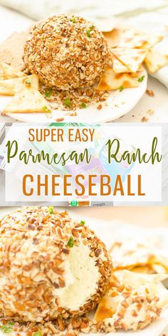 Parmesan Ranch Cheeseball is a flavor packed, easy cheeseball that is perfect for tailgating, snacking or an awesome appetizer.  Cooking with Karli  #cheeseball #appetizer #ranch #parmesan #easy #recipe Easy Cheeseball, Bacon Ranch Cheeseball, Christmas Cheese Ball Recipe, Christmas Party Food, Christmas Goodies, Christmas Ideas, Christmas Recipes, Cold Party Appetizers, Cheese Appetizers