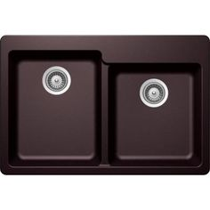 Buy Here: http://thd.co/1RydfCY SCHOCK ALIVE ALIN175T080 Top Mount Composite 33 in. 0-Hole 60/40 Double Bowl Kitchen Sink in Acai #kitchensink #kitchensinks #kitchen #sinks #schock #granitesink