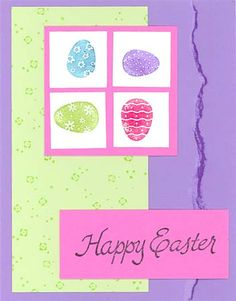 another mini-quilt card easter