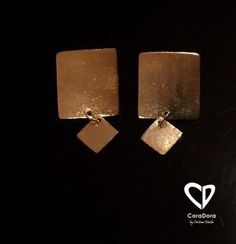 ⚡Square Earrings⚡ by Square Earrings, Earrings Handmade, Cufflinks, Chic, Accessories, Jewelry, Fashion, Caracas, Shabby Chic