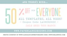 Chic Critique Forum | Paper Lark Designs | New Website Promo | 50% Off All Templates (Ends @ Midnight 3/15/14)