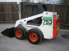 BOBCAT 753 SKID STEER WILL SHIP SNOW BUCKET DIESEL KUBOTA AUXILIARY HYDRAULICS