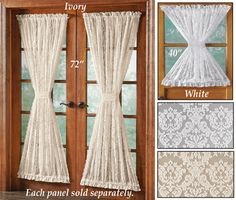 Alison Scalloped Lace Door Panel Curtain